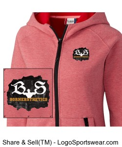 Ladies Fleece Full Zip Hoodie Design Zoom