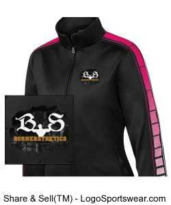 Ladies Dot Sublimation Tricot Track Jacket Design Zoom