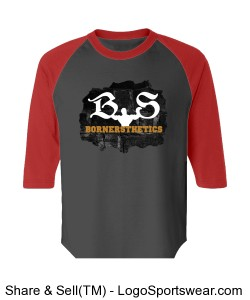 Badger 3/4 Sleeve Moisture Wicking Baseball Shirt Design Zoom